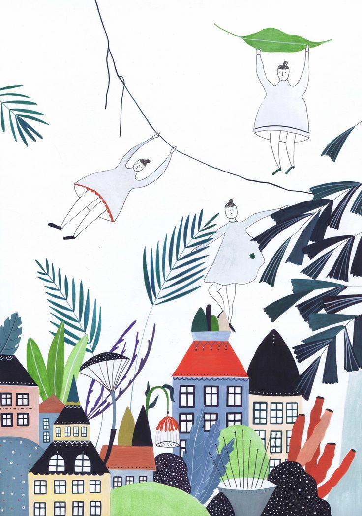 macroworld, watercolor. http://www.iwonaszczepanik.com/