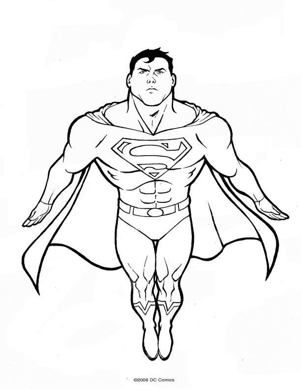 Coloriage Superman !