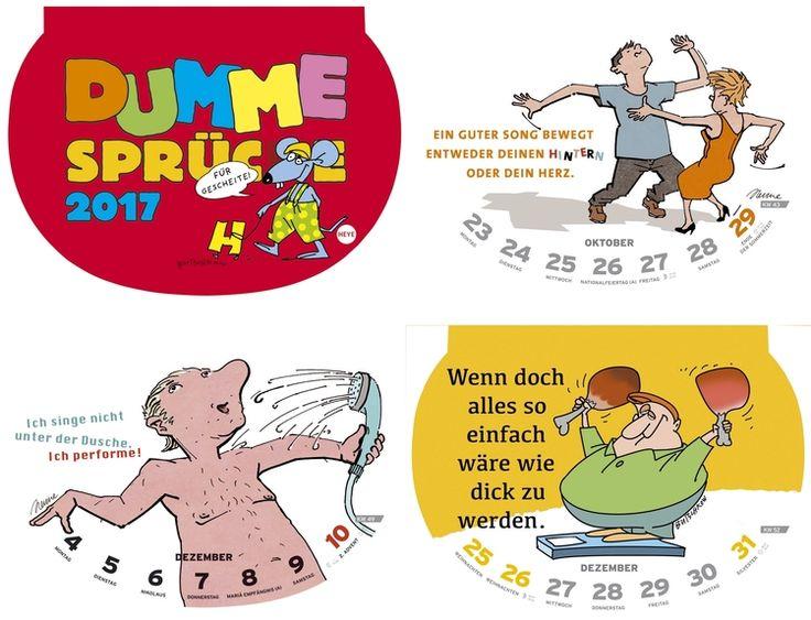 """HEYE Kalender """"Dumme Sprüche"""" - 29 x 21 cm - BTS A. Balzer"""