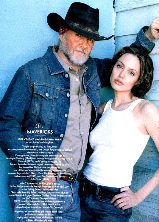 Jon Voight and daughter Angelina Jolie ~ Photo by Herb Ritts (1999)