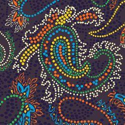 Carta da parati-Pannelli per pareti-Rivestimenti-Paisley Design | Pointillism paisley design-wallunica