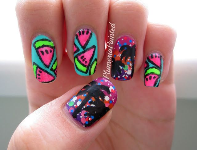 26 Best Images About Palm Tree Nail Art On Pinterest Nail Art Festivals And Tropical