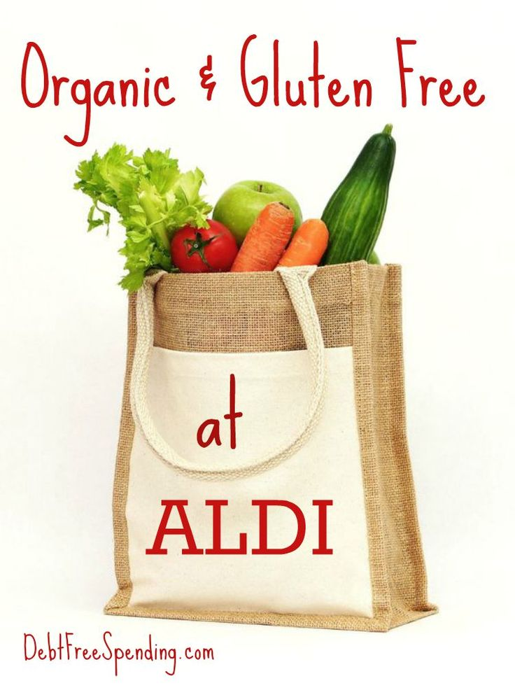 Did you know ALDI sells organic & gluten-free products? So excited for these options!