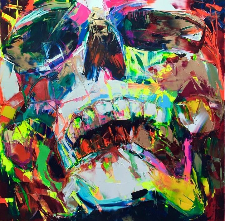 With bold strokes and vibrant colors, each of Francoise Nielly's paintings exude raw emotion.