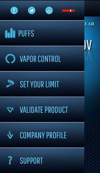 Vaporite Platinum Plus – The Iphone of Vaporizers - Application Menu