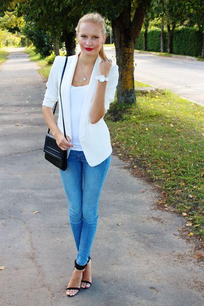177 Best White Blazer Images On Pinterest White Blazers