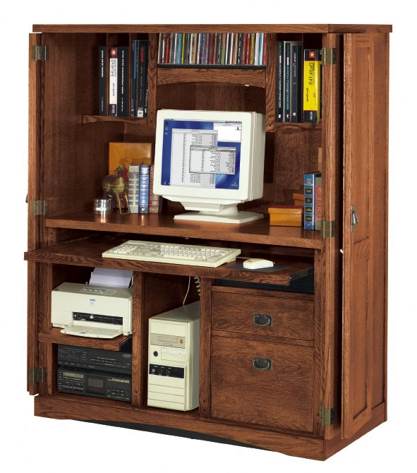 deskhome office space in an armoire computer