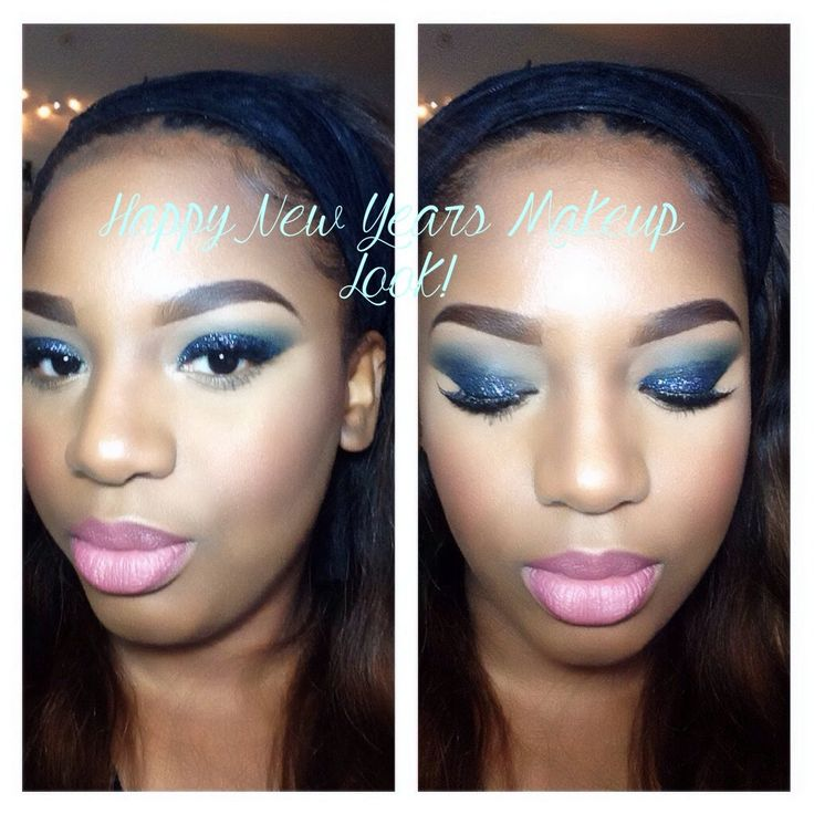Happy New Years Makeup tutorial 2014 / Sparkle blue eyes and LORAC lips.