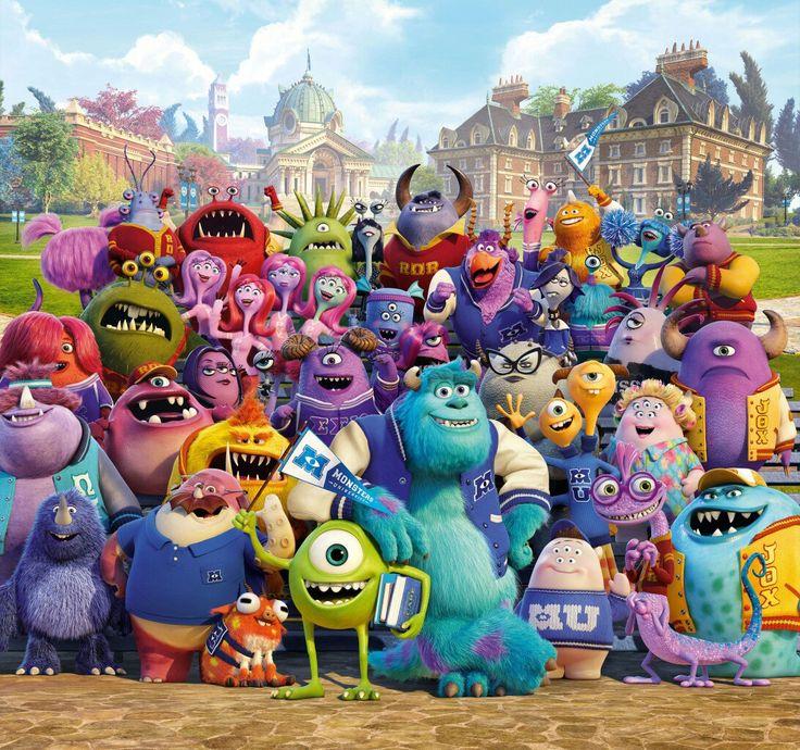 Monsters University Monsters Cartoons 3D_Graphics-