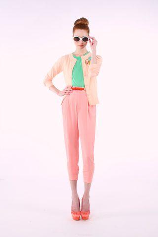 Alice + Olivia Clash of pastel colours