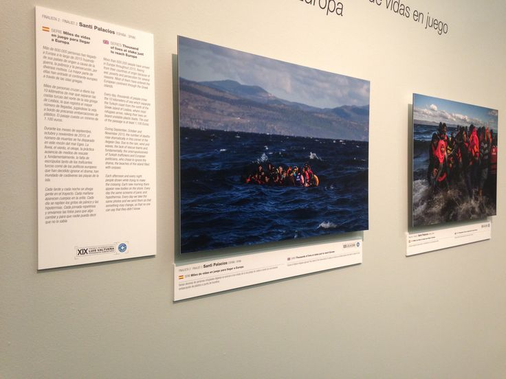 A few more of the photos of the refugee crisis happening at the minute up on display inside the museum.