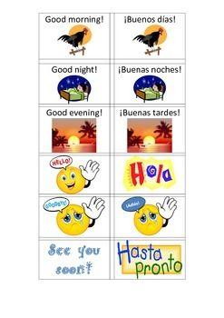 using a game to teach saludos