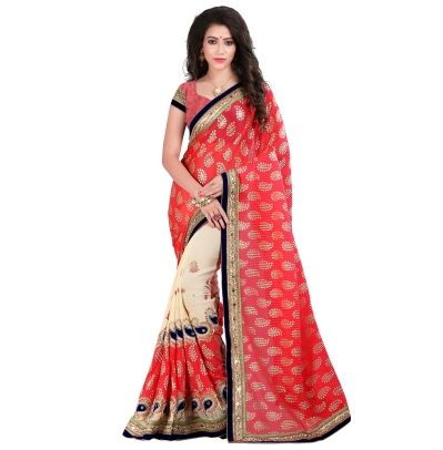 Buy Today Magnificent Pink Color Georgette