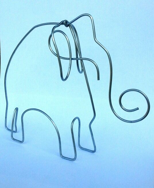 elephant | inspired by Alexander Calder | 18 X 15 cm | galvanized wire | info & orders: artbending@gmail.com