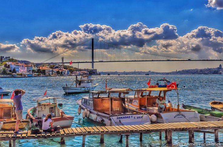 Photographers at Cengelkoy, Istanbul by Ahmet Parlakbilek