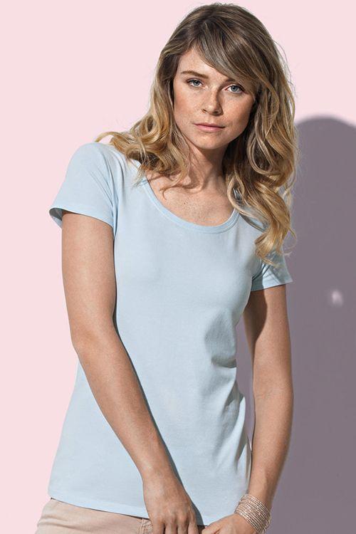 Tricou damă Claire Stedman din 95% bumbac pieptănat ring spun şi 5% elastan #tricouri #stedman #personalizare #brodate #imprimate