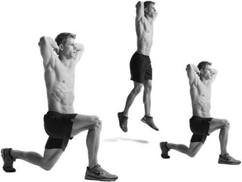 The best fat #burningexercises should include #lunge jumps. Even without weights, lunges help the body burn fat, and you will feel some lactic burn in the legs.