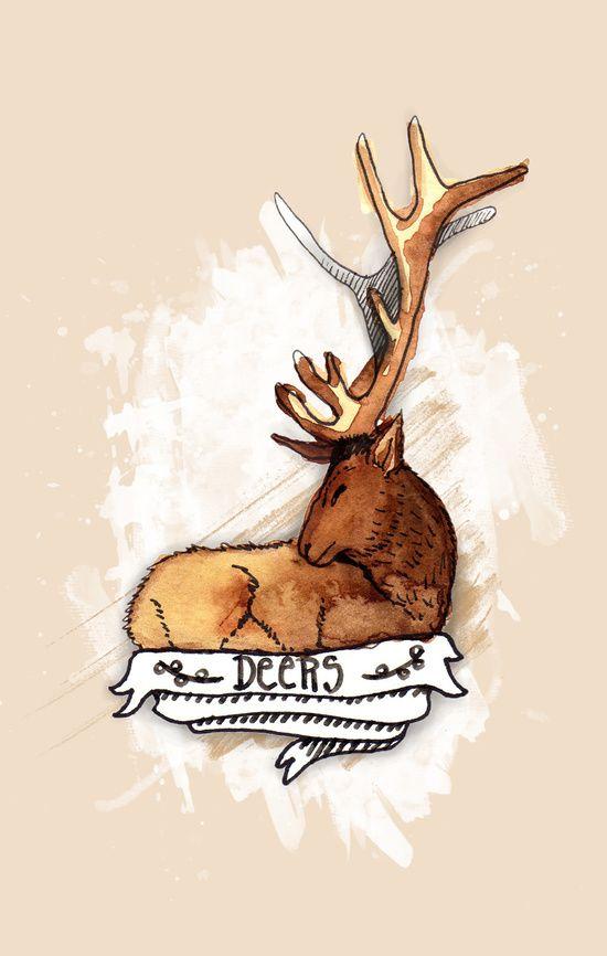 Deers Art Print
