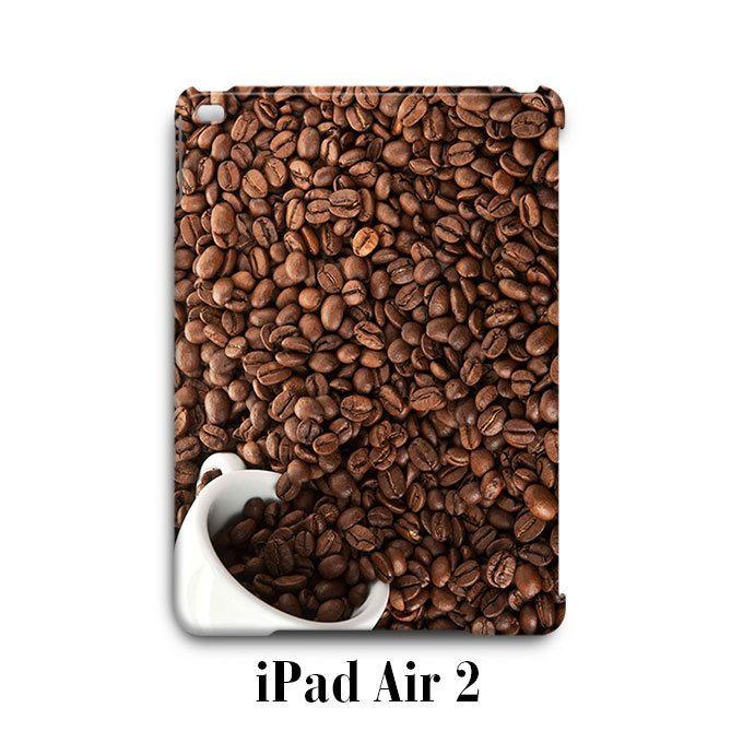 Coffee Beans Mug Print Pattern iPad Air 2 Case Cover Wrap Around