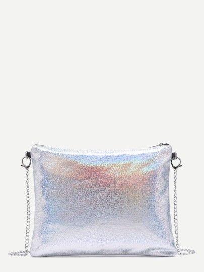 PU Handtasche mit Kettenriemen in Regenbogen 2017
