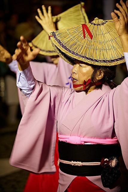 Awa Odori (dance) at Mitaka Festival, Japan