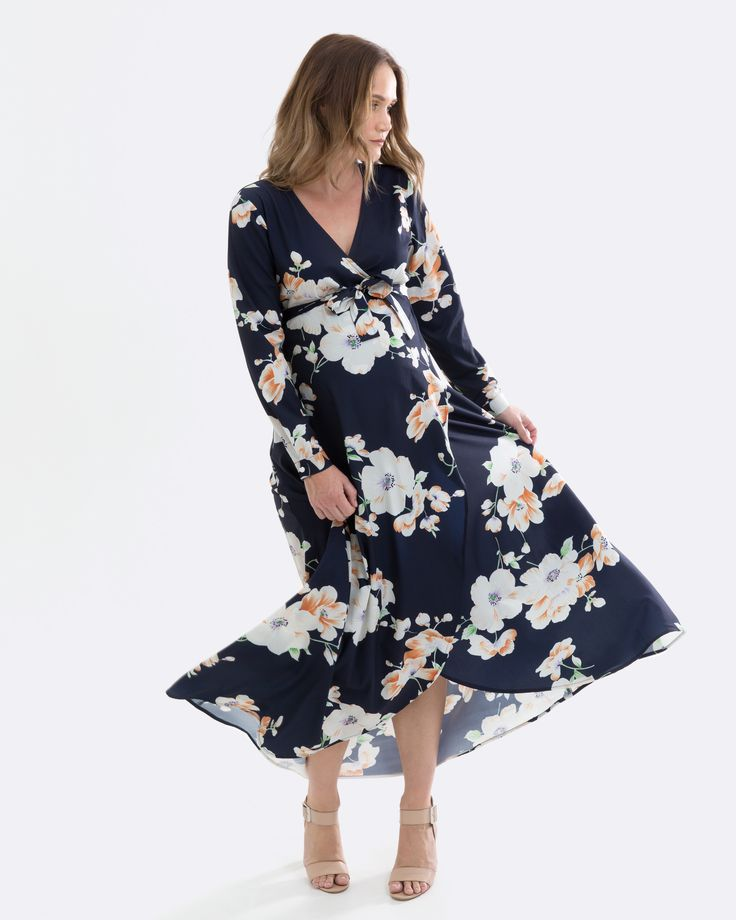 Floral Maxi Dress for Pregnancy and Nursing - only $65 aud online