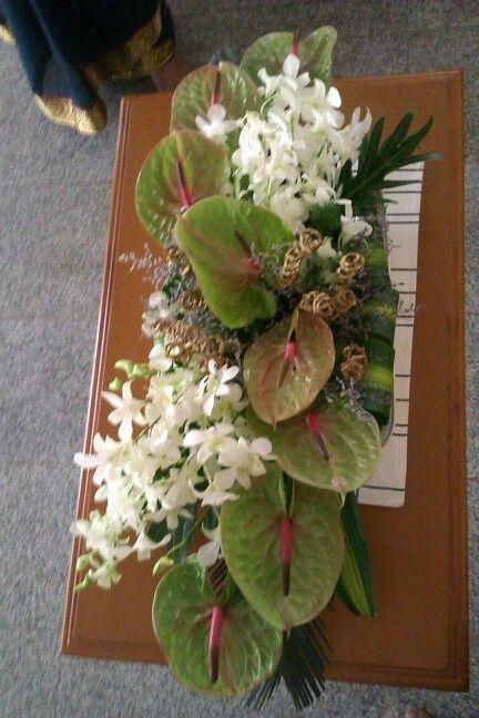 anthorium and orchids