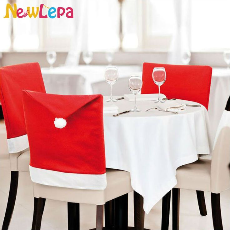 Wholesale Red Santa Claus Christmas Kitchen Chair Covers Dinner Chairs  Covers Banquet Chair Covers