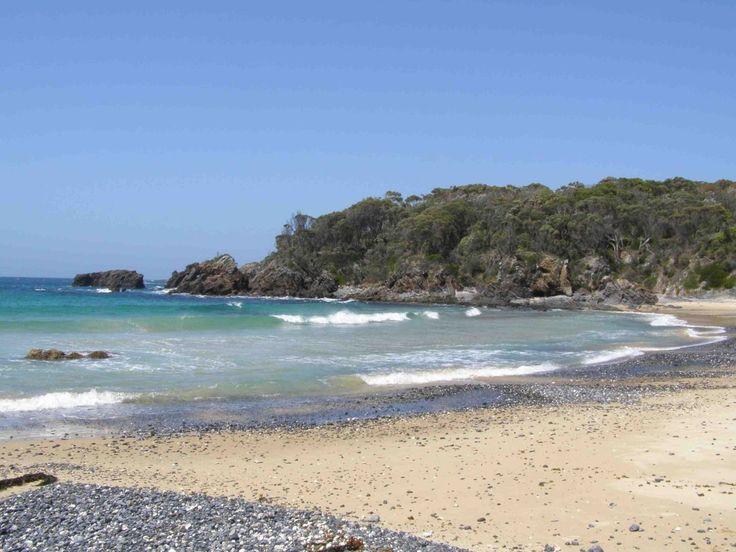 Mystery Bay campground south of Narooma, 24km north of Cobargo.    No bookings.   Facilities.