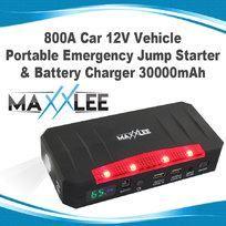 800A Car 12V Vehicle Portable Emergency Jump Starter & Battery Charger 30000mAh