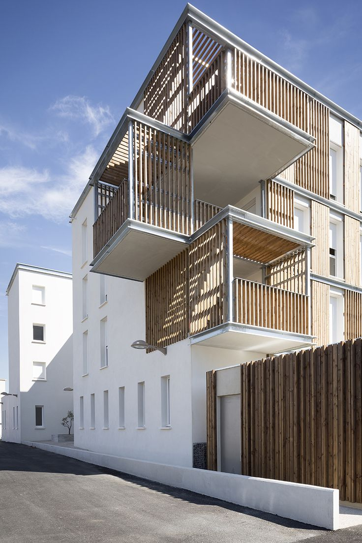 Balcony design ideas in apartment grenoble france home design and - Designed By Tla Architectes And Composed Of 15 Social Housing Complexes A Tax Center And