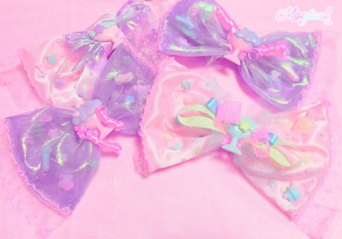 kawaii pastel bows