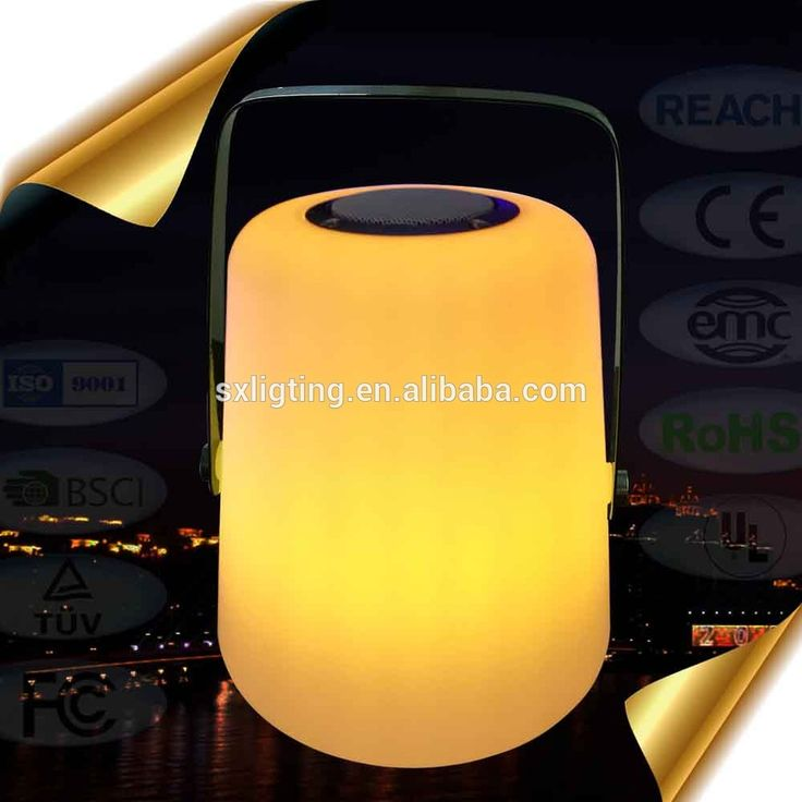 Portable Cordless LED Bluetooth Handle Lantern / Bluetooth RGB Color Changing Handle LED Lamp