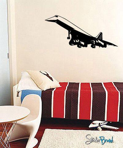 Vinyl Wall Decal Sticker Concord Plane #548