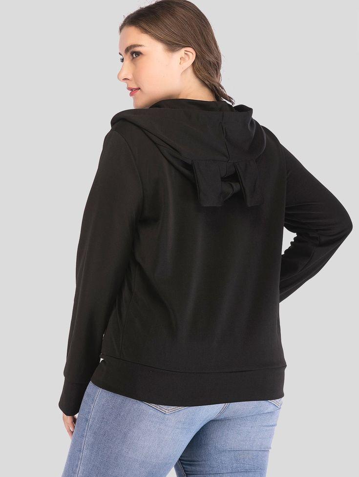 Hooded Plus Size Zip Hoodie