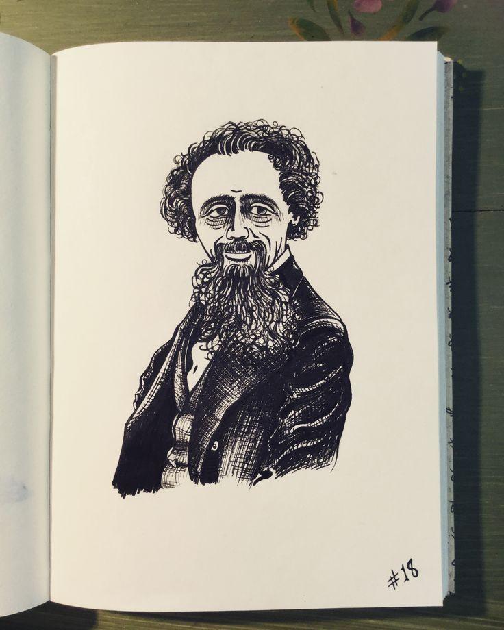 #inktober Day 18 - Charles Dickens