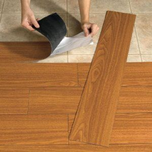 Brylanehome Peel-And-Stick Wood-Look Plank Flooring. Camper floor replacement.