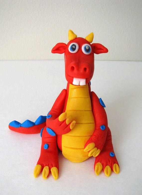 Dragon  Edible Fondant Cake Topper by onebitesweet on Etsy, $30.00
