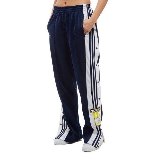 adidas Originals Adibreak Popper Pants (4.405 RUB) ❤ liked on Polyvore featuring pants, snap closure pants, sports trousers, sport pants, sports pants and blue pants