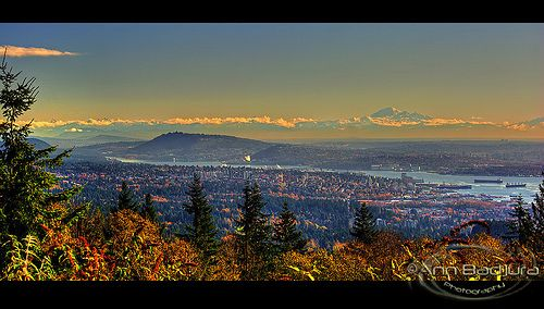 Great view seen from Cypress Provincial Park Lookout  in West Vancouver, British Columbia, Canada.  From up here you have a fantastic view over the Greater Vancouver area and beyond.  Taken by me (Ann Badjura)