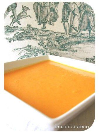 Soupe froide carotte coco cumin