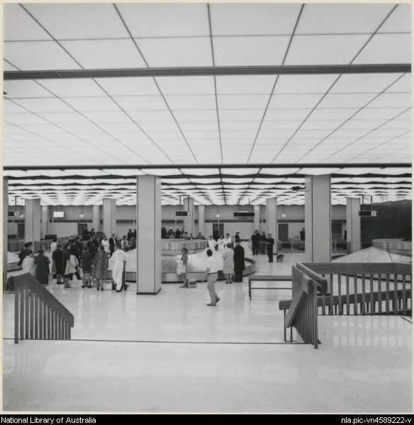 Edwards, Don. The arrival hall at the Melbourne International airport at…
