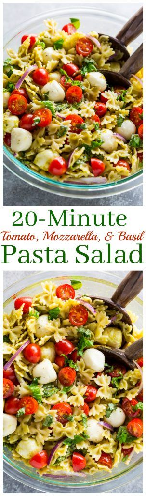 20-Minute Tomato, Basil, and Mozzarella Pasta Salad