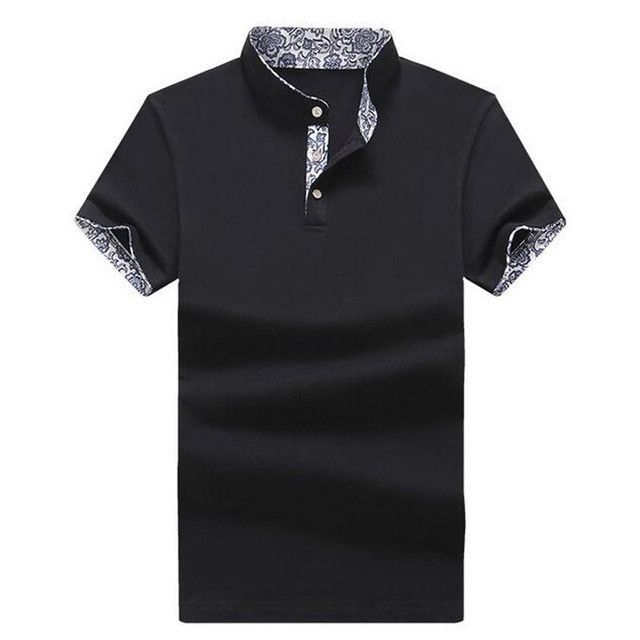 HEE GRAND Men Short Sleeve Polo Shirt 2017 New Arrival Stand Collar Cotton Breathable Material Male Print Polo Shirts MTP436