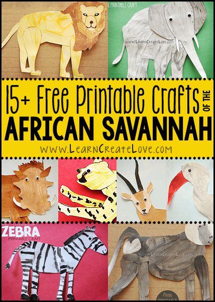 African Savannah Animals Round-Up