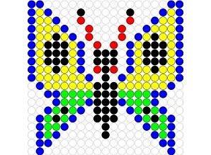 Kralenplank Vlinder