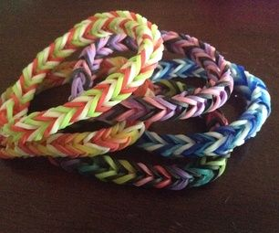 Rainbow Loom Fishtail Pattern #rubberbands #bracelet