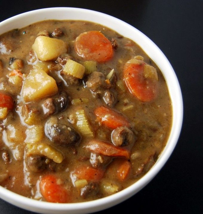A hearty vegan Lamb Stew for a delicious Fall dinner.