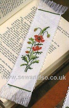 Buy Poppy Bookmark Cross Stitch Kit Online at www.sewandso.co.uk