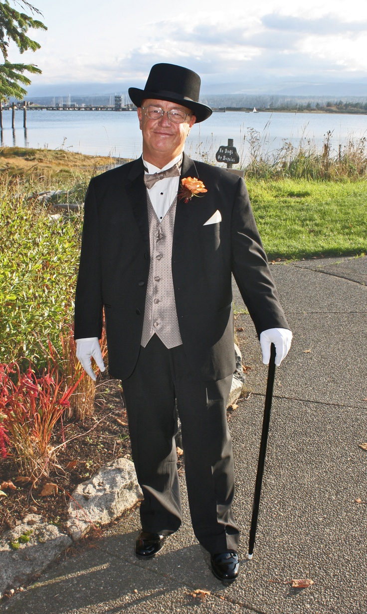 Top Hat and Tails.  Father of the Bride